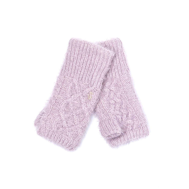 JUICY COUTURE - Γυναικεία γάντια JUICY COUTURE μοβ γυναικεία αξεσουάρ φουλάρια κασκόλ γάντια
