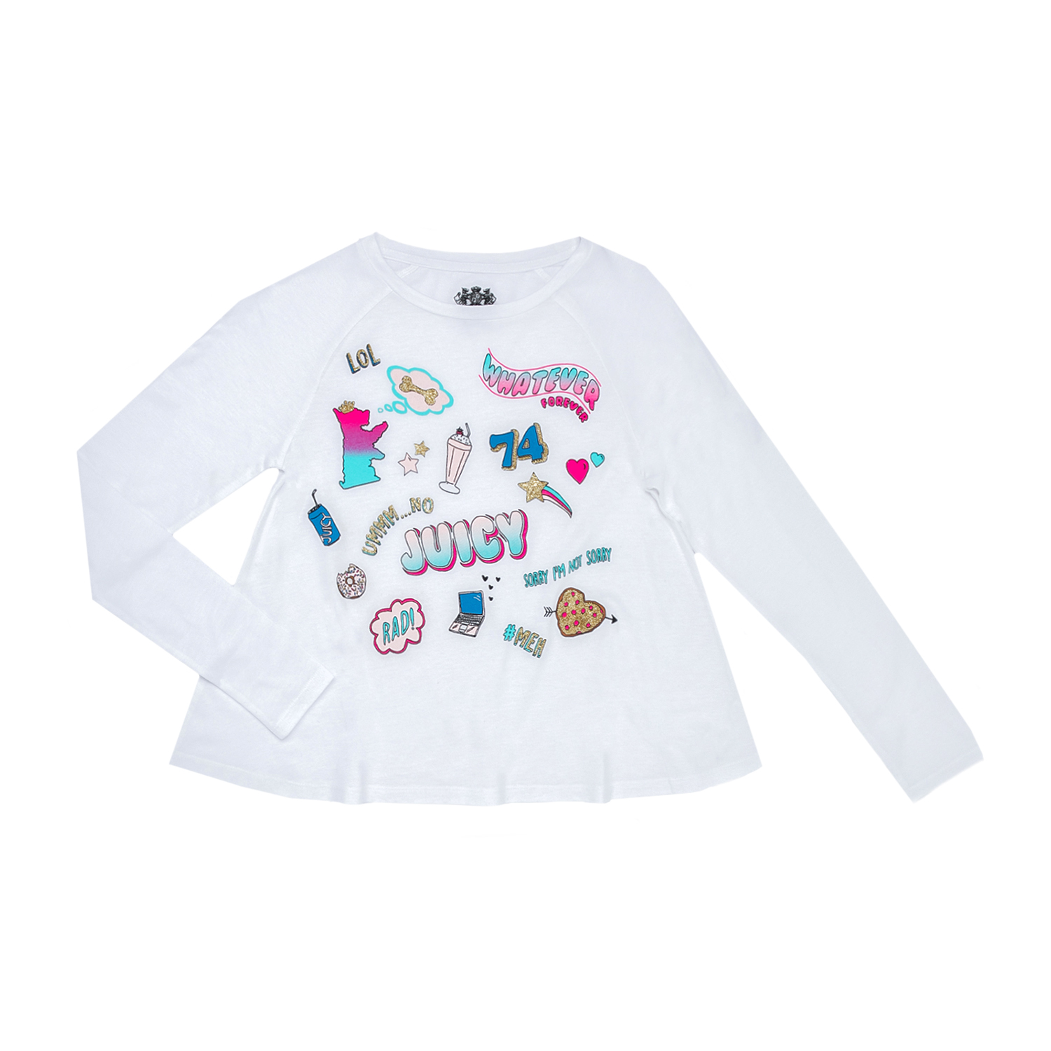 JUICY COUTURE KIDS – Παιδική μπλούζα JUICY COUTURE KIDS άσπρη