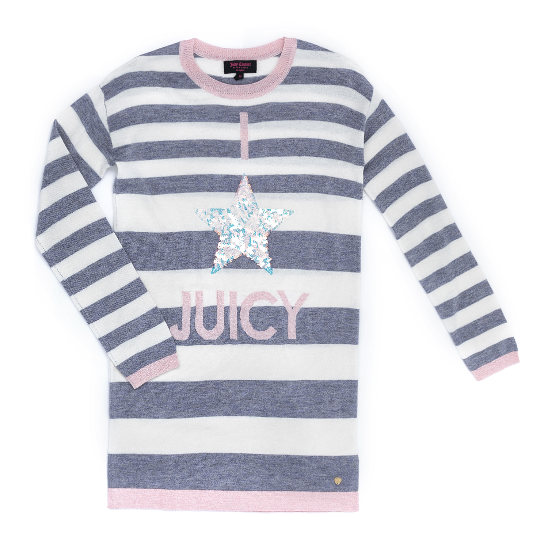 JUICY COUTURE KIDS – Παιδικό φόρεμα JUICY COUTURE KIDS ριγέ