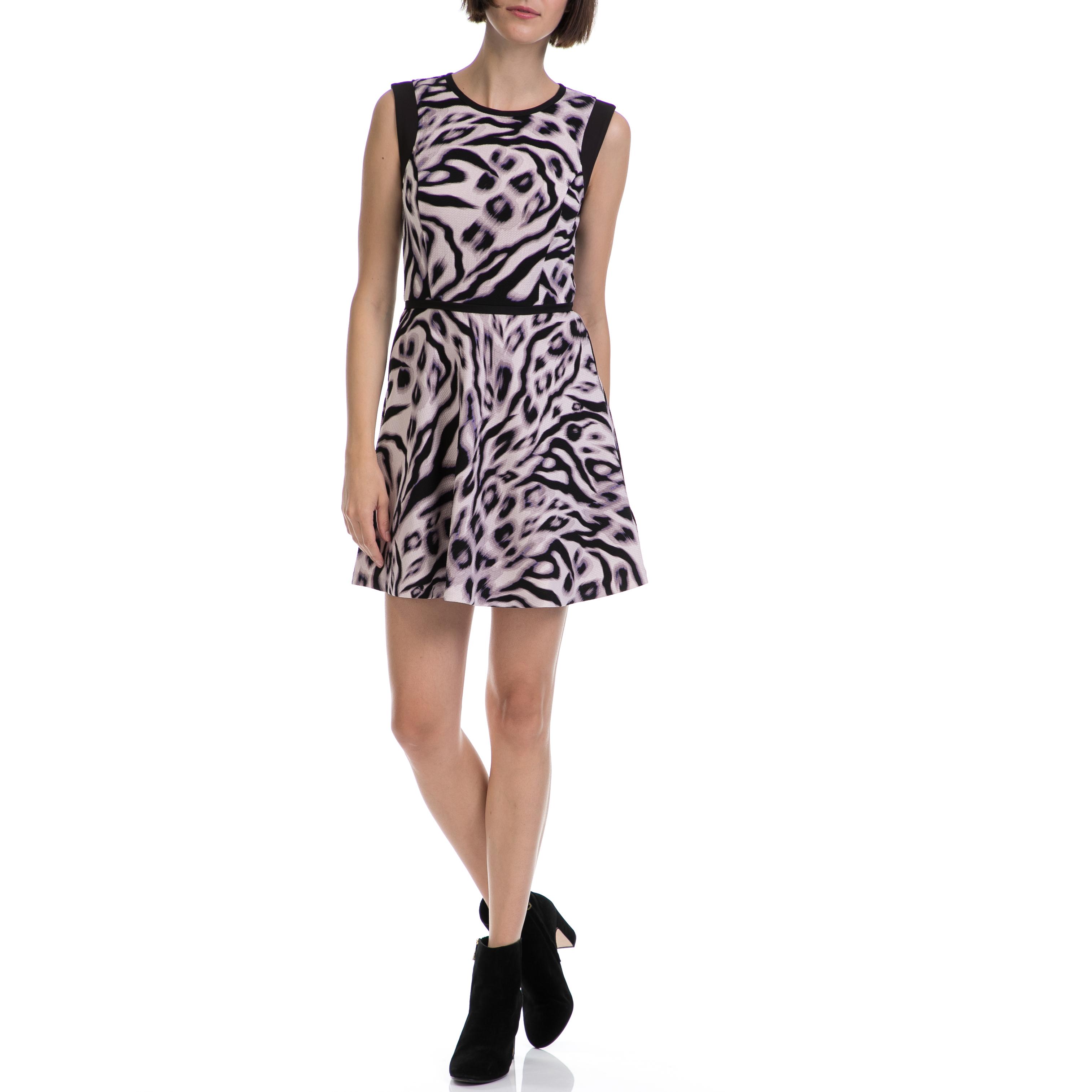JUICY COUTURE - Γυναικείο φόρεμα JUICY COUTURE μαύρο-ροζ γυναικεία ρούχα φορέματα μίνι