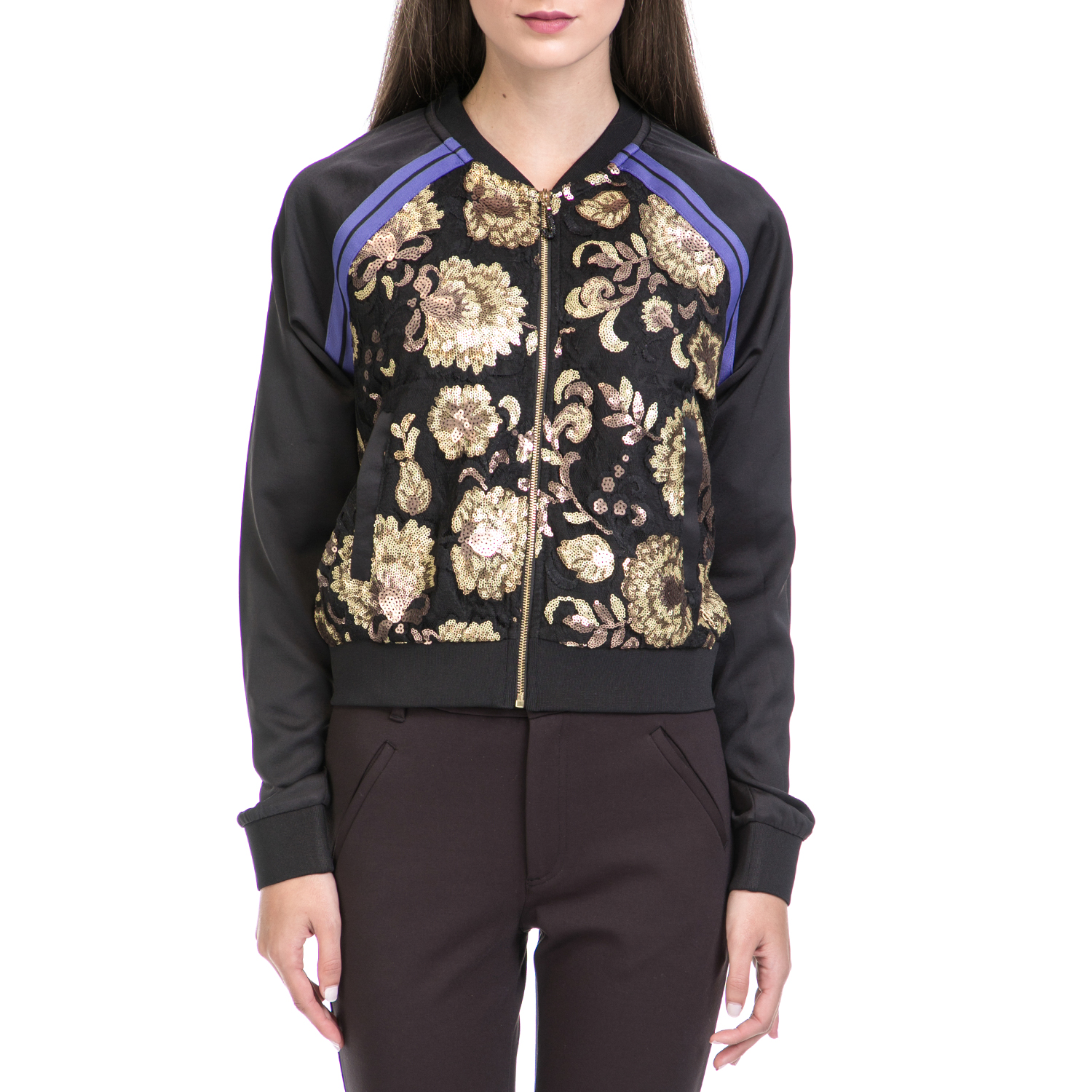 JUICY COUTURE – Γυναικείο τζάκετ JUICY COUTURE μαύρο-χρυσό