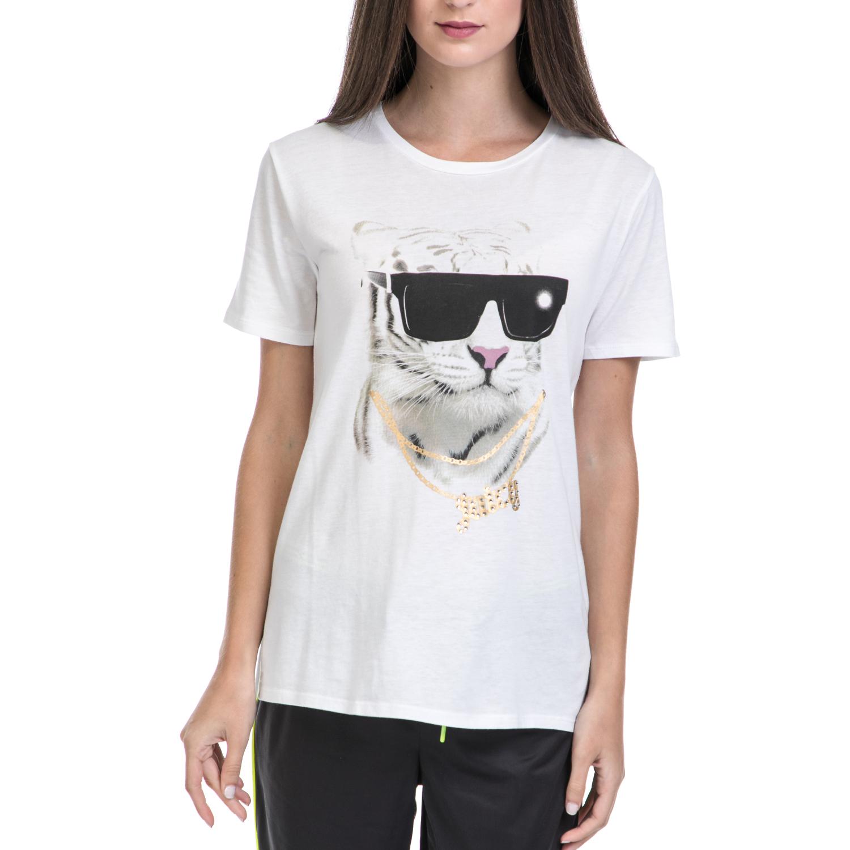 JUICY COUTURE – Γυναικεία μπλούζα JUICY COUTURE λευκή-μαύρη