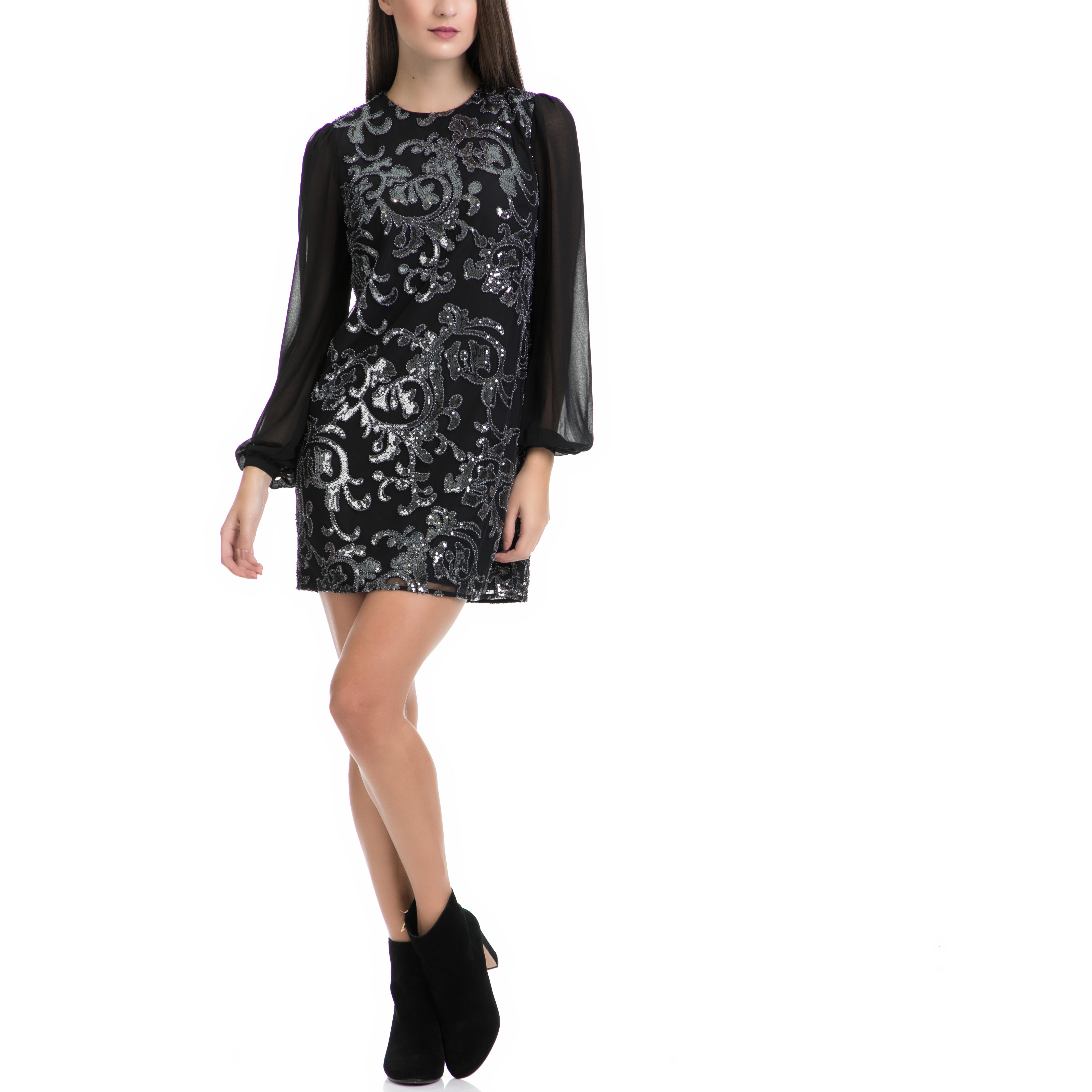 JUICY COUTURE - Γυναικείο φόρεμα MOSCOW SEQUINS μαύρο γυναικεία ρούχα φορέματα μίνι