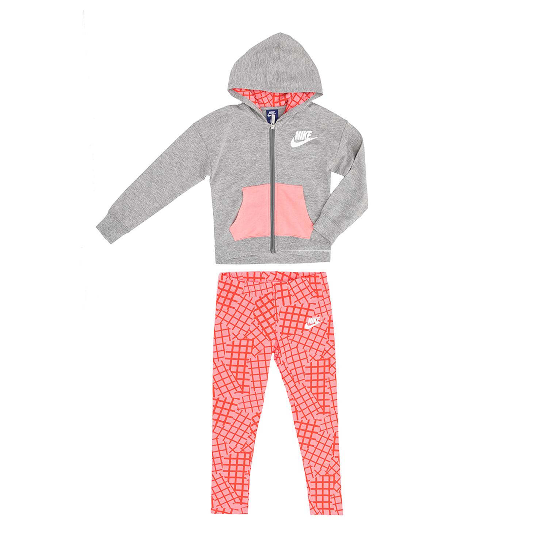 NIKE – Παιδικό σετ NIKE γκρι-ροζ