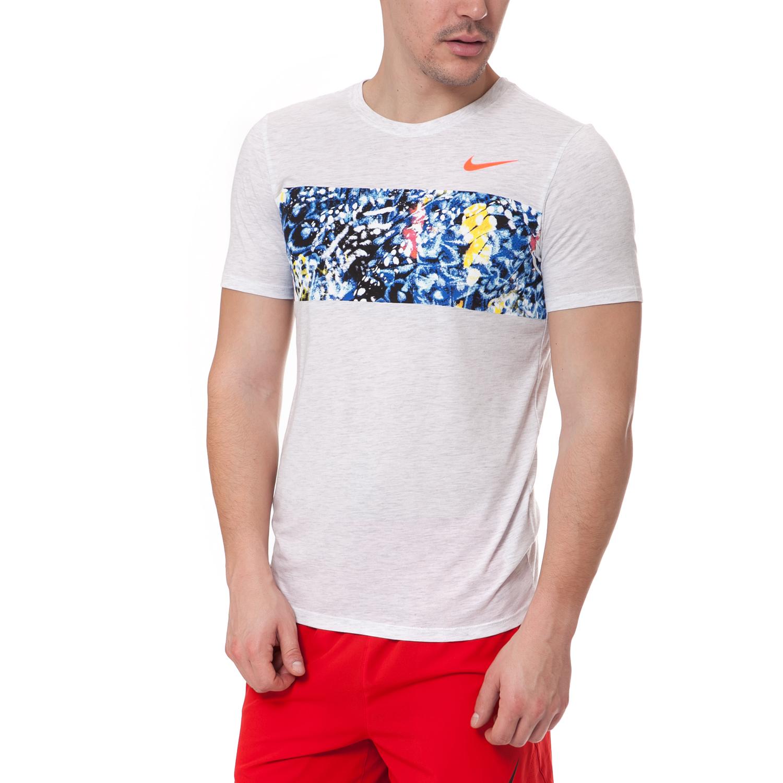 NIKE - Ανδρικό t-shirt NIKE RUN λευκό ανδρικά ρούχα αθλητικά t shirt