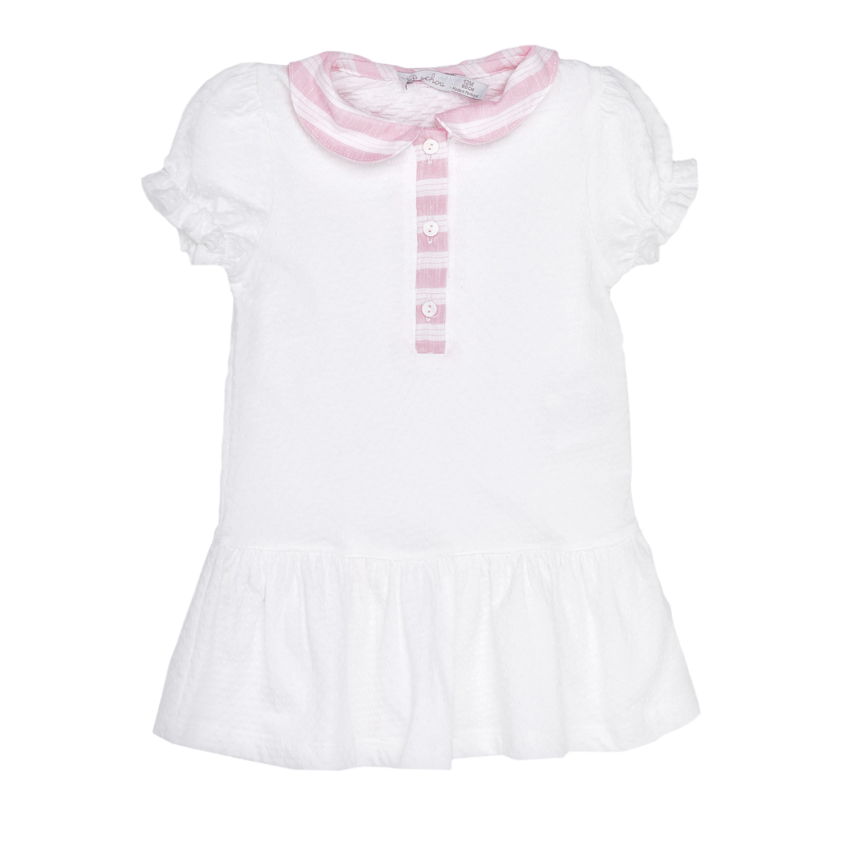PATACHOU – Παιδικό φόρεμα PATACHOU άσπρο