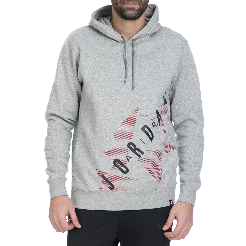NIKE - Ανδρικό φούτερ AJ 6 FLEECE HOODIE γκρι ανδρικά ρούχα αθλητικά φούτερ μακρυμάνικα