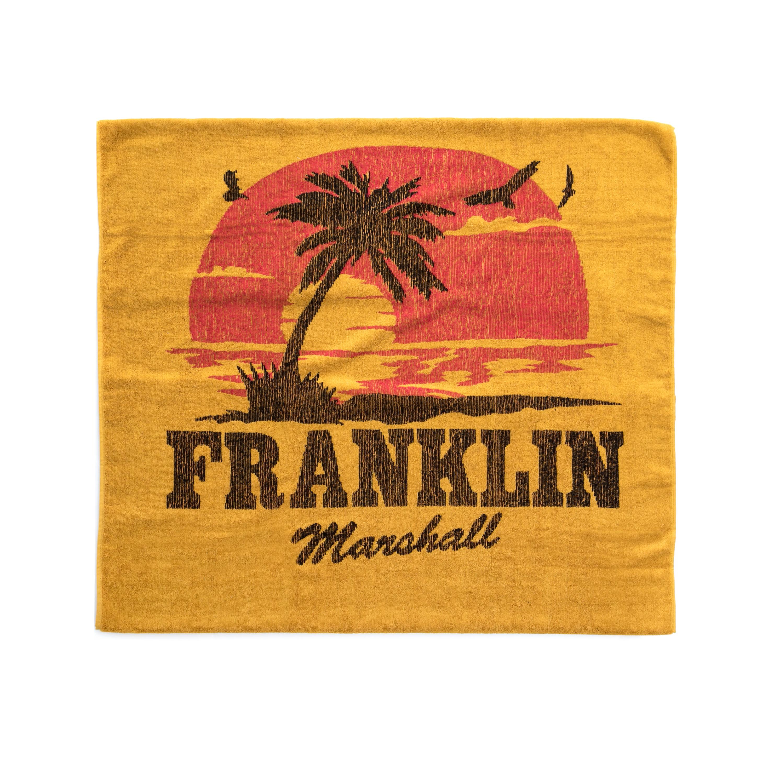 FRANKLIN & MARSHALL – Πετσέτα θαλάσσης FRANKLIN & MARSHALL πορτοκαλί-κόκκινη