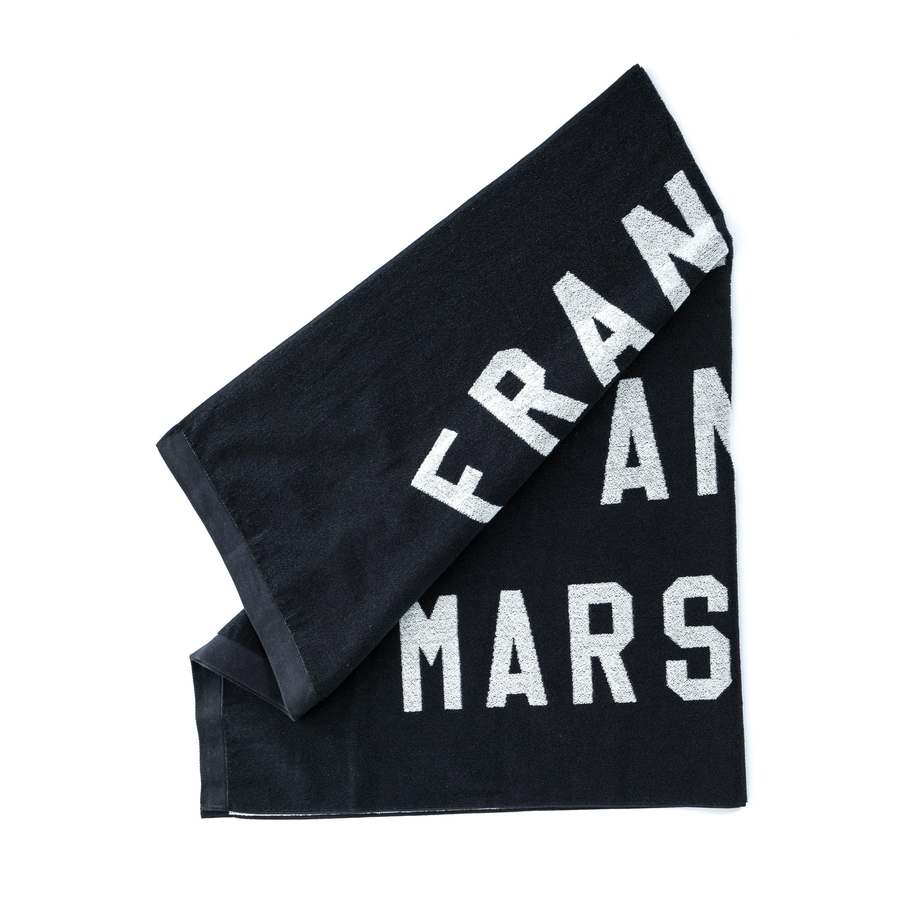 FRANKLIN & MARSHALL – Πετσέτα θαλάσσης Franklin & Marshall μαύρη-λευκή