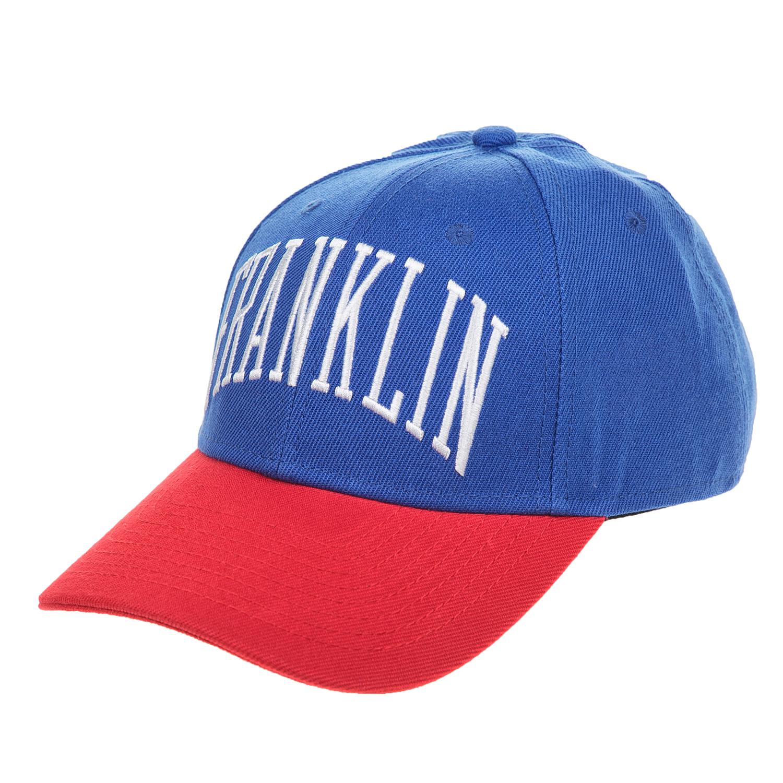 FRANKLIN & MARSHALL - Unisex καπέλο Franklin & Marshall μπλε - κόκκινο ανδρικά αξεσουάρ καπέλα casual