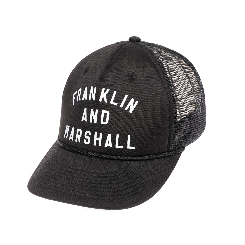 FRANKLIN & MARSHALL - Καπέλο τζόκεϋ Franklin & Marshall μαύρο γυναικεία αξεσουάρ καπέλα αθλητικά