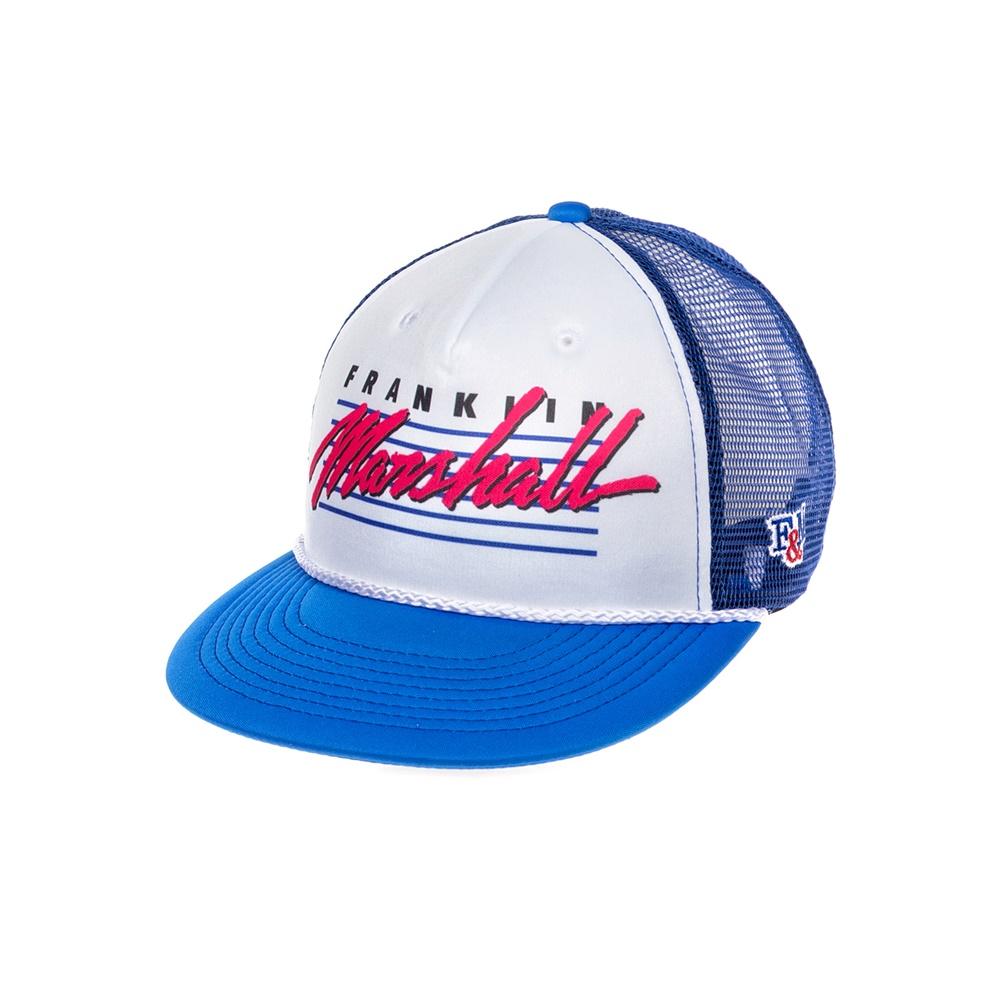 FRANKLIN & MARSHALL – Καπέλο FRANKLIN & MARSHALL μπλε-άσπρο