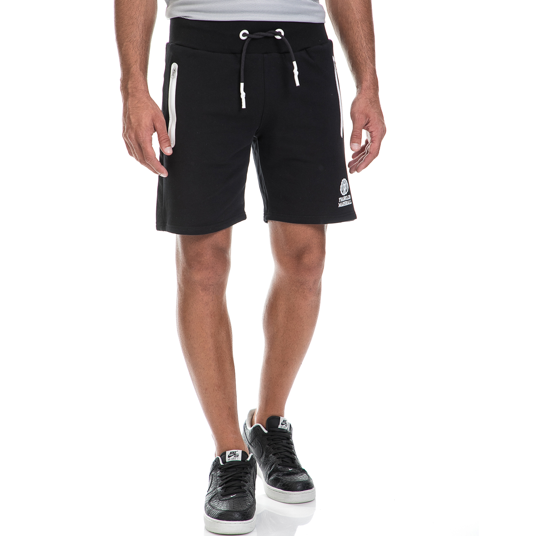FRANKLIN & MARSHALL - Ανδρική βερμούδα FRANKLIN & MARSHALL μαύρη ανδρικά ρούχα σορτς βερμούδες αθλητικά