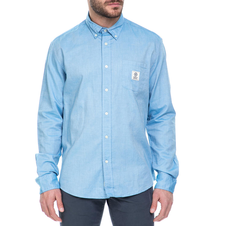 FRANKLIN & MARSHALL – Ανδρικό μακρυμάνικο πουκάμισο Franklin & Marshall γαλάζιο