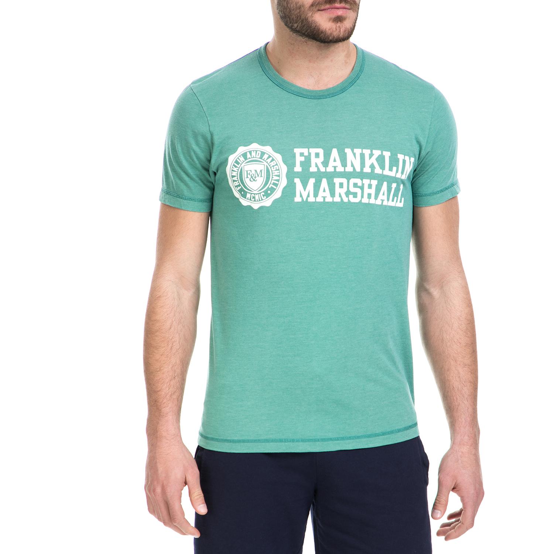 adc78938c543 FRANKLIN   MARSHALL – Ανδρική κοντομάνικη μπλούζα Franklin   Marshall  πράσινη