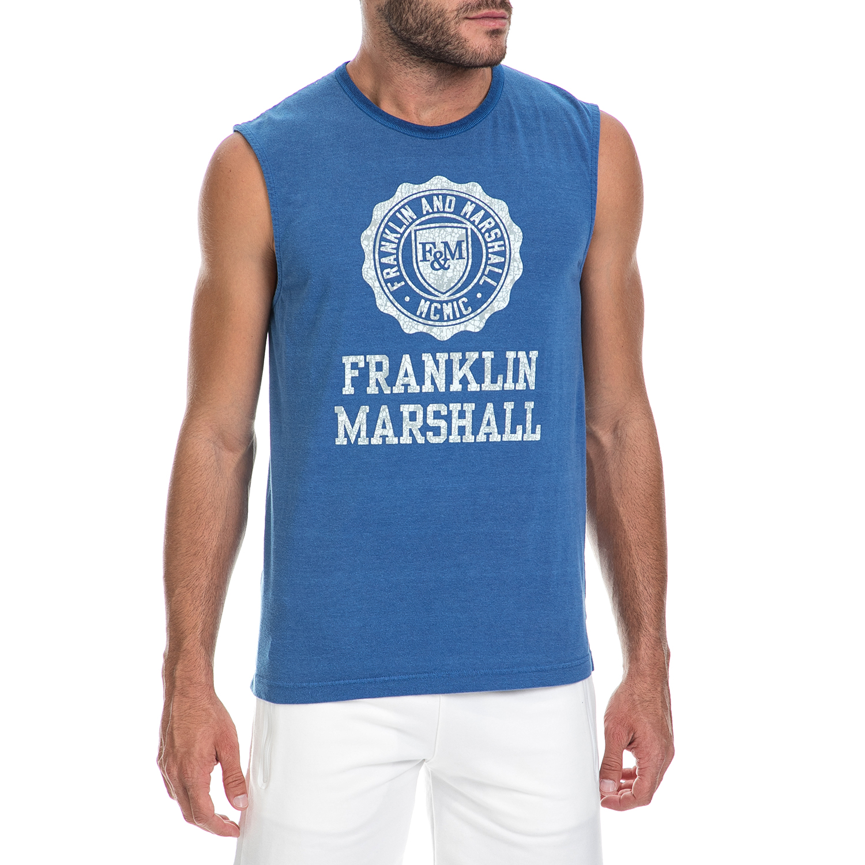 FRANKLIN & MARSHALL – Ανδρική μπλούζα FRANKLIN & MARSHALL μπλε