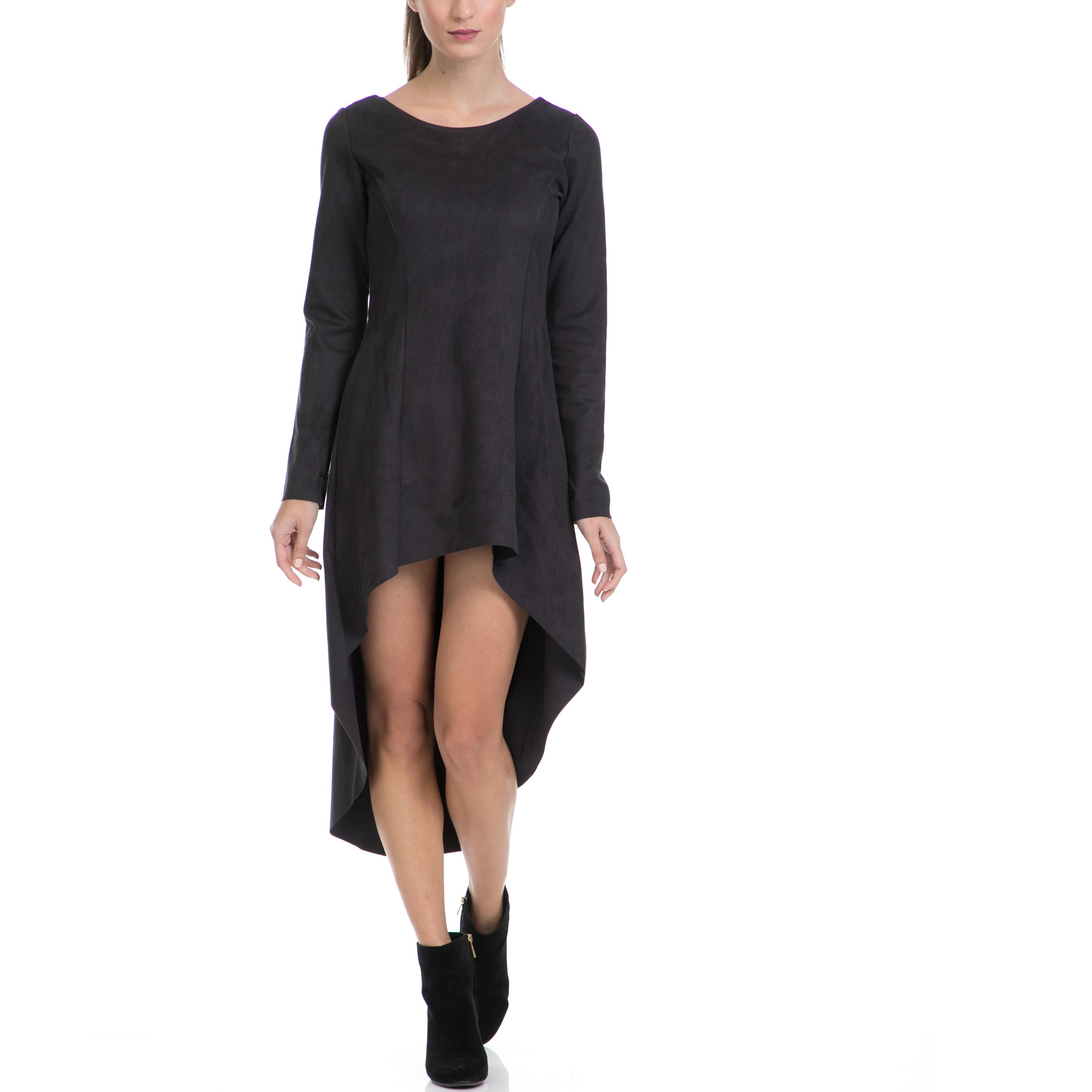 LA DOLLS - Γυναικείο φόρεμα LA DOLLS μαύρο γυναικεία ρούχα φορέματα μίνι