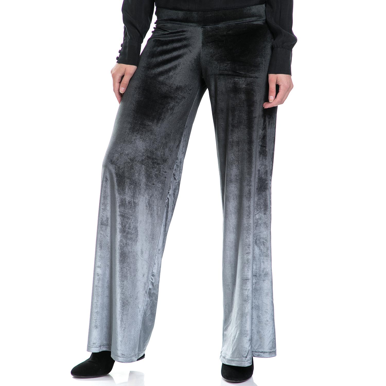 LA DOLLS – Γυναικεία παντελόνα LA DOLLS μαύρη-γκρι
