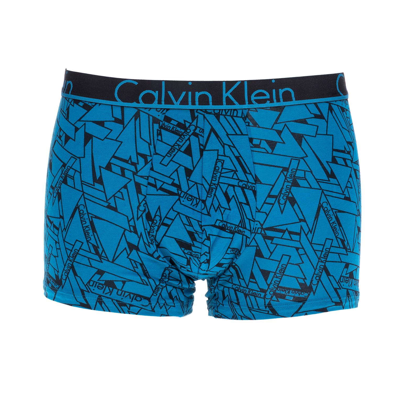 CK UNDERWEAR - Ανδρικό μπόξερ Calvin Klein μπλε ανδρικά ρούχα εσώρουχα μπόξερ