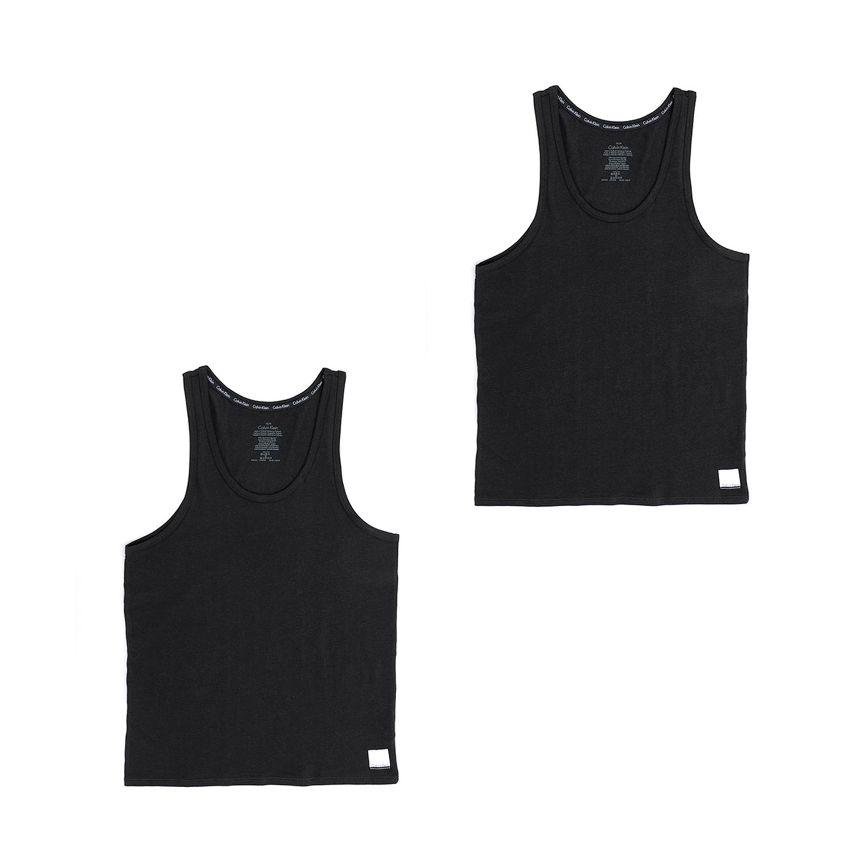 CK UNDERWEAR - Ανδρικό σετ φανέλες Calvin Klein μαύρες ανδρικά ρούχα εσώρουχα φανέλες