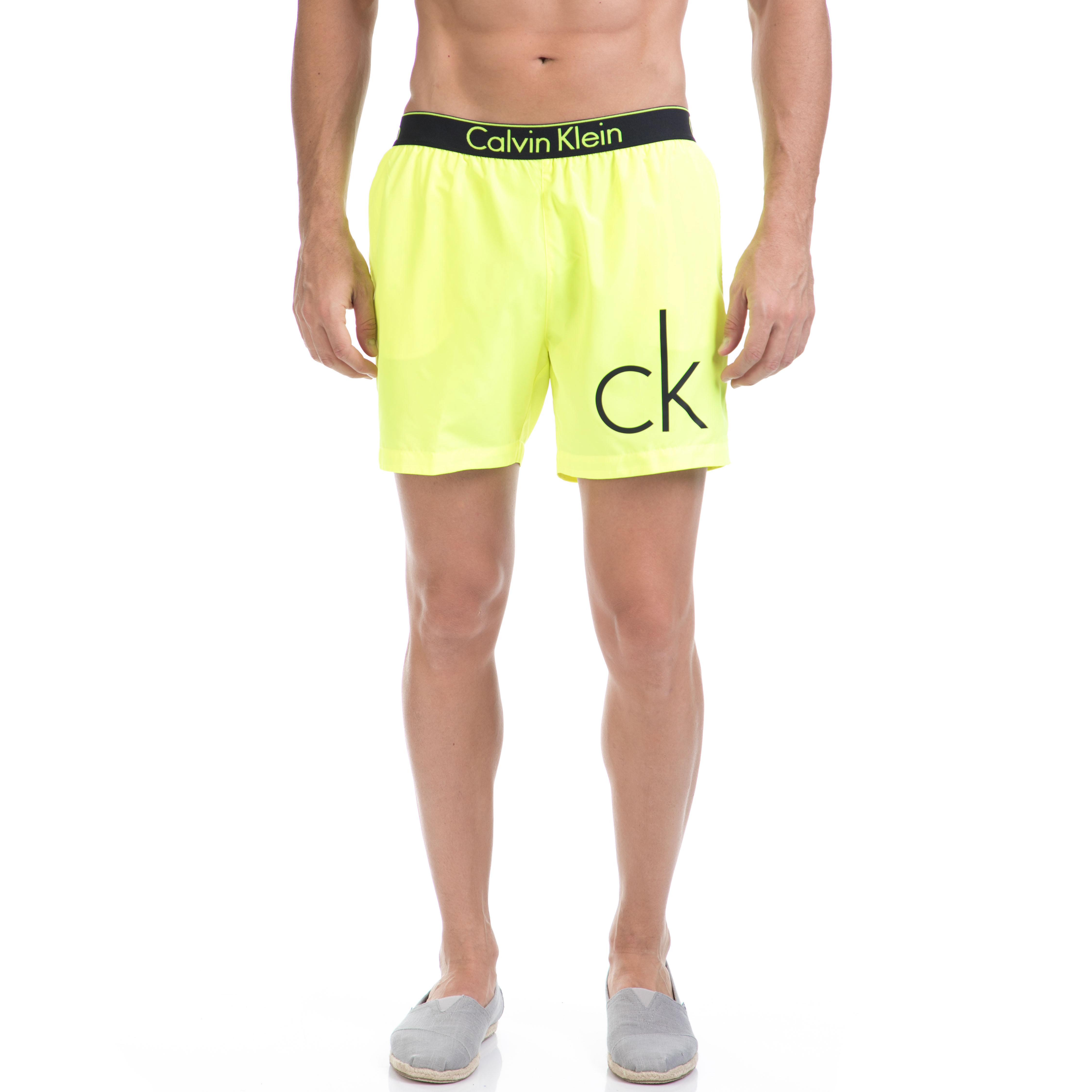CK UNDERWEAR – Αντρικό μαγιό βερμούδα CK κίτρινο