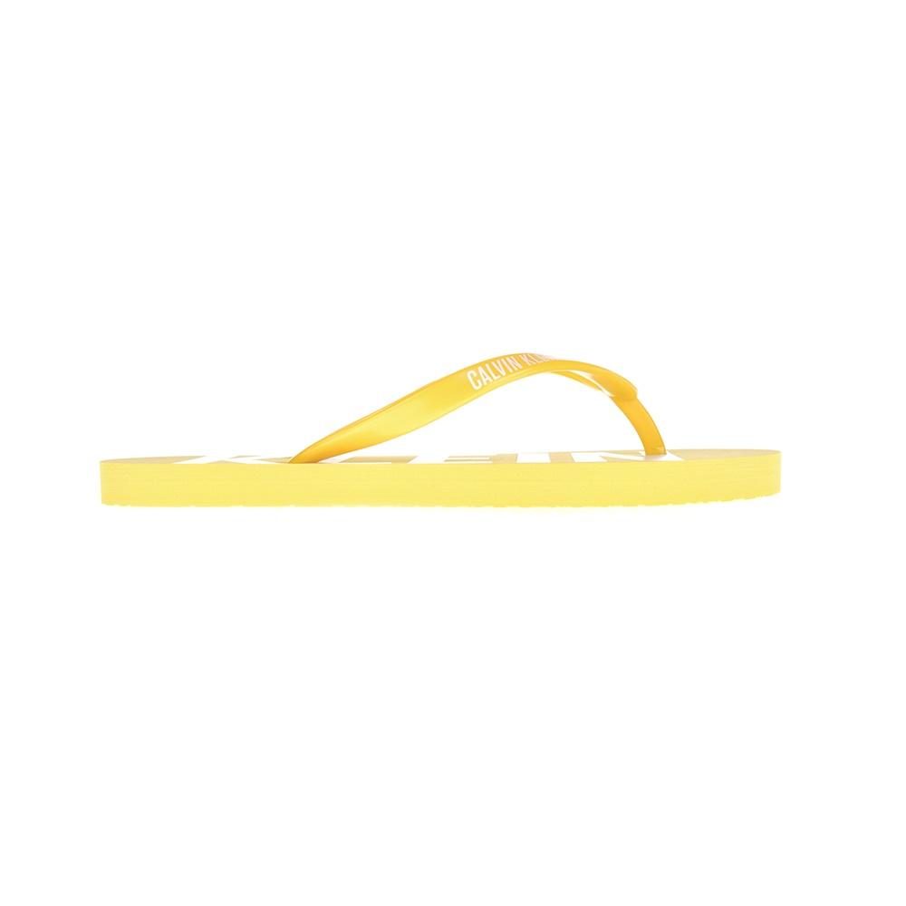 CK UNDERWEAR – Γυναικείες σαγιονάρες CALVIN KLEIN κίτρινες