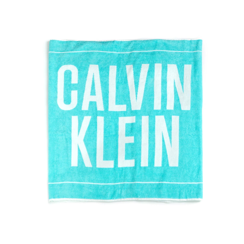 CK UNDERWEAR – Πετσέτα θαλάσσης CALVIN KLEIN μπλε-άσπρη