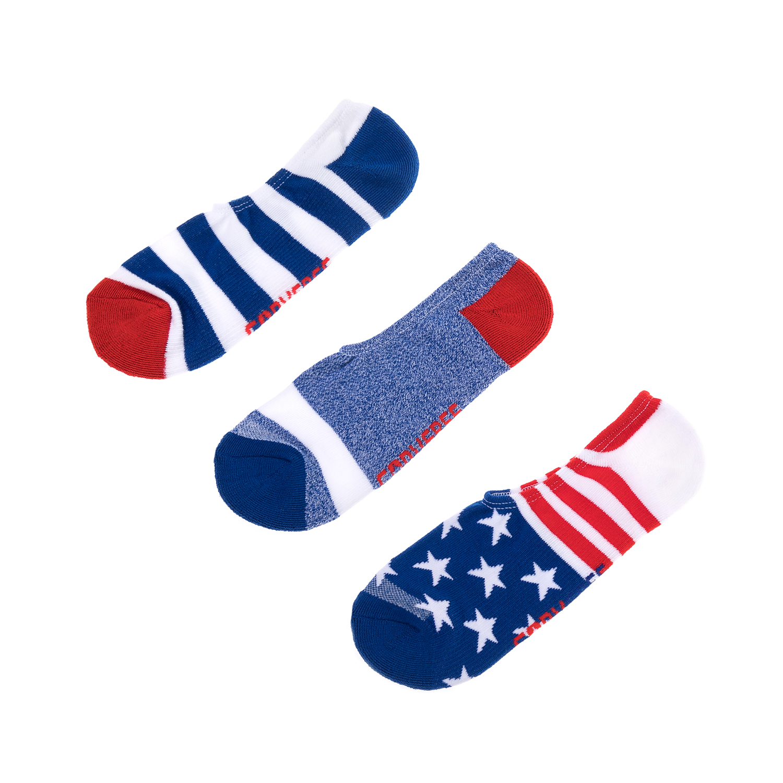 CONVERSE – Ανδρικό σετ κάλτσες CONVERSE κόκκινε-μπλε-λευκές