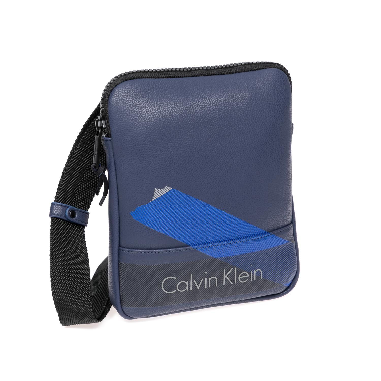 CALVIN KLEIN JEANS - Αντρική τσάντα Calvin Klein Jeans μπλε ανδρικά αξεσουάρ τσάντες σακίδια ωμου
