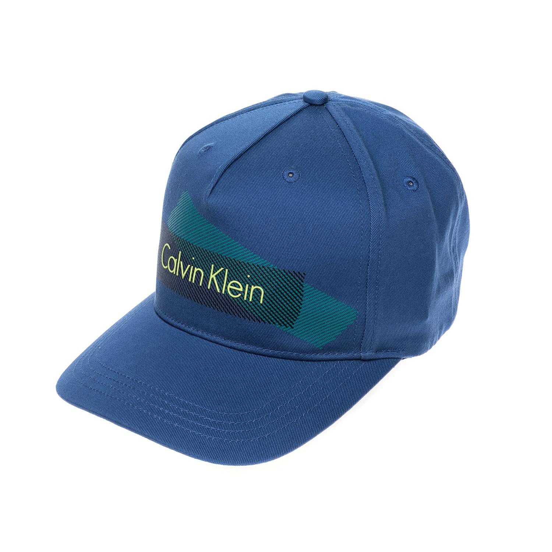 CALVIN KLEIN JEANS – Αντρικό καπέλο CALVIN KLEIN JEANS μπλε