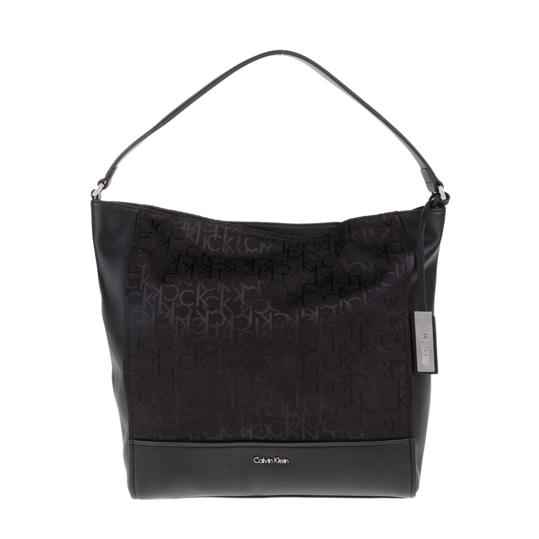 CALVIN KLEIN JEANS – Γυναικεία τσάντα ώμου MARIN4 LOGO HOBO Calvin Klein  Jeans μαύρη 8d6665c988b