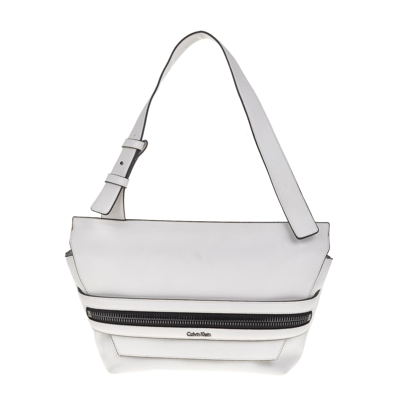 f88fd08bd10 CALVIN KLEIN JEANS – Γυναικεία τσάντα ώμου LUC7 MEDIUM Calvin Klein Jeans  λευκή