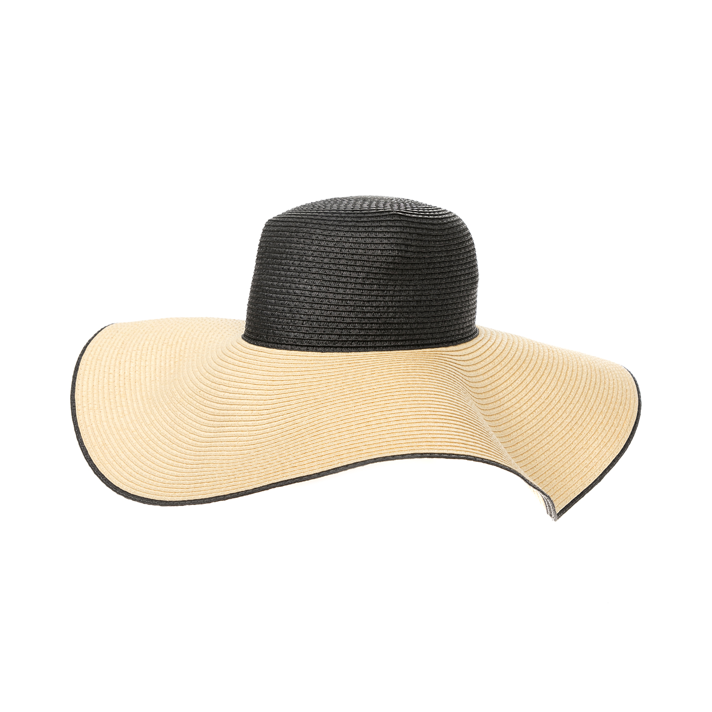 CALVIN KLEIN JEANS – Γυναικείο καπέλο CALVIN KLEIN JEANS εκρού-μαύρο