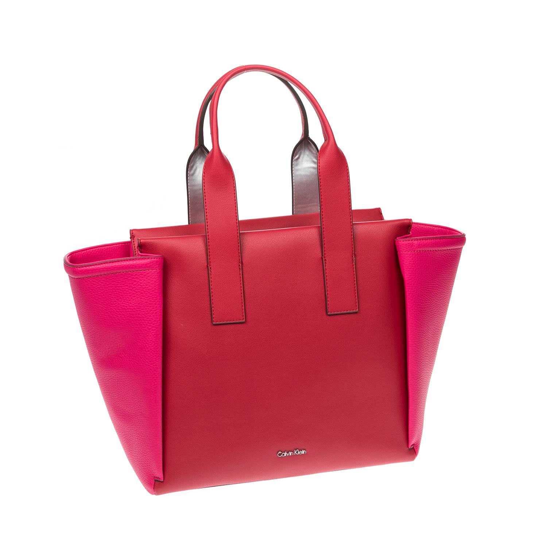 CALVIN KLEIN JEANS - Γυναικεία τσάντα CALVIN KLEIN JEANS κόκκινη γυναικεία αξεσουάρ τσάντες σακίδια χειρός