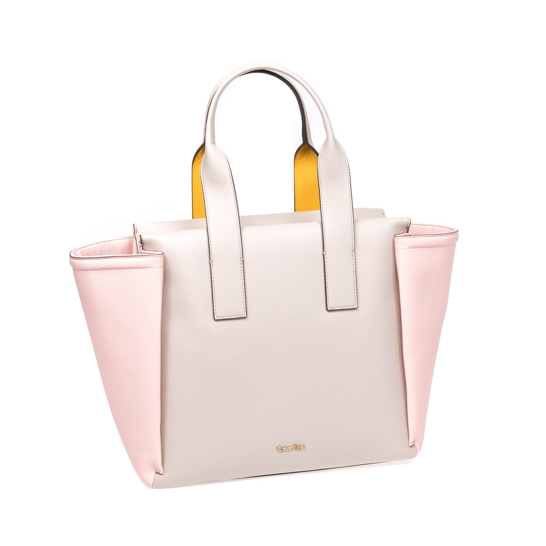 CALVIN KLEIN JEANS – Γυναικεία τσάντα Calvin Klein Jeans μπεζ-ροζ 1522678.0-00M6