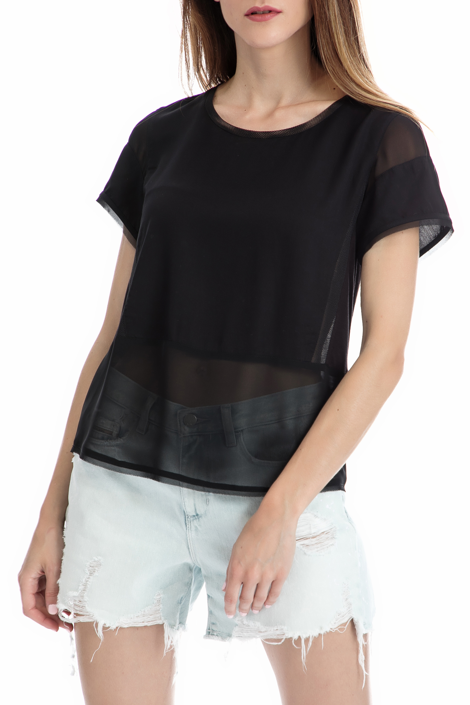 CALVIN KLEIN JEANS – Γυναικεία μπλούζα CALVIN KLEIN JEANS μαύρη