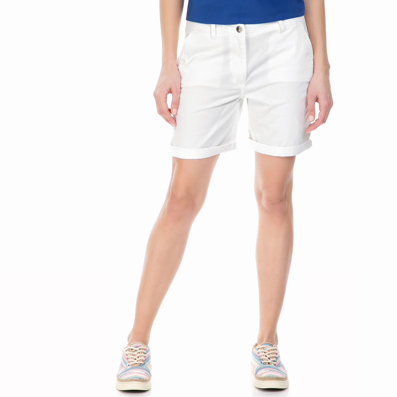 85369a190c5a CALVIN KLEIN JEANS - Γυναικεία chino βερμούδα Calvin Klein Jeans λευκή