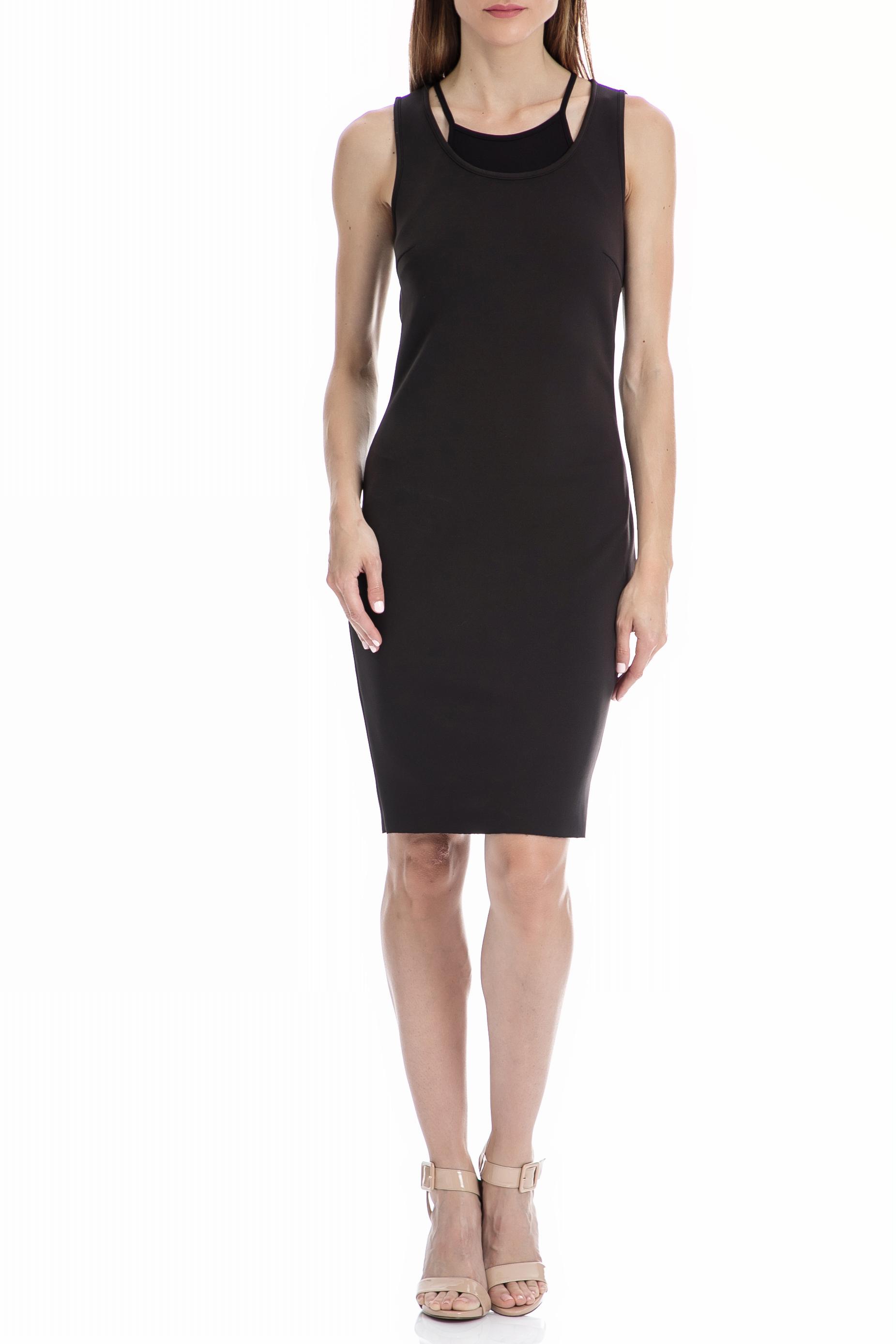 CALVIN KLEIN JEANS – Γυναικείο φόρεμα CALVIN KLEIN JEANS μαύρο