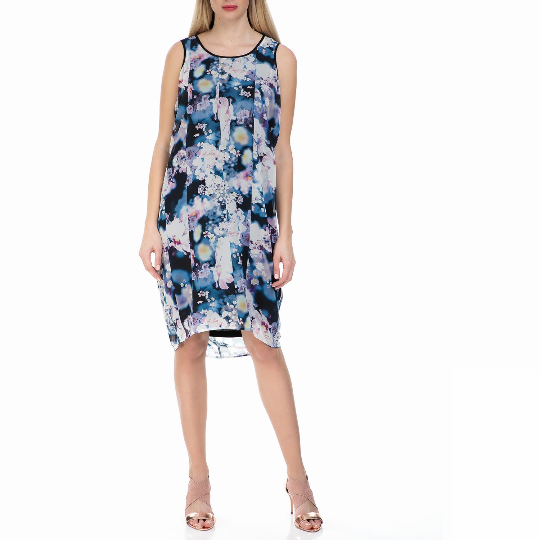 CALVIN KLEIN JEANS - Γυναικείο αμάνικο φόρεμα Calvin Klein Jeans φλοράλ γυναικεία ρούχα φορέματα μέχρι το γόνατο
