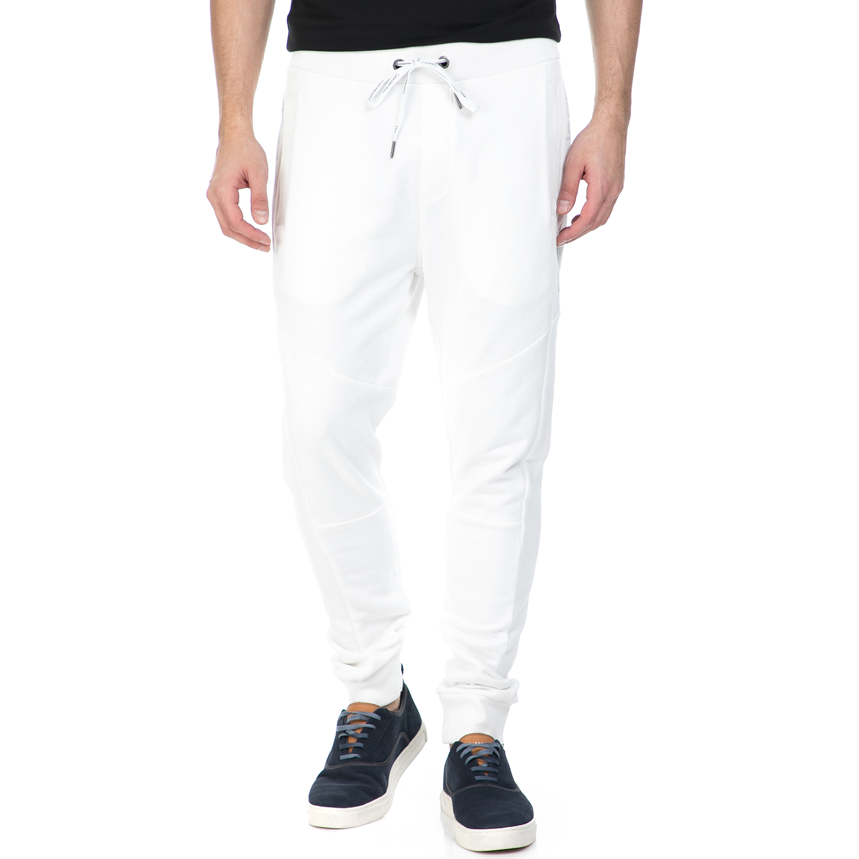 CALVIN KLEIN JEANS - Ανδρικό παντελόνι φόρμας HUSION 3 Calvin Klein Jeans λευκό ανδρικά ρούχα αθλητικά φόρμες