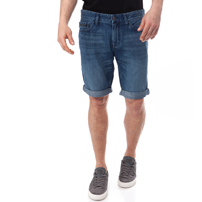 CALVIN KLEIN JEANS - Ανδρική βερμούδα Calvin Klein Jeans μπλε ανδρικά ρούχα σορτς βερμούδες casual jean