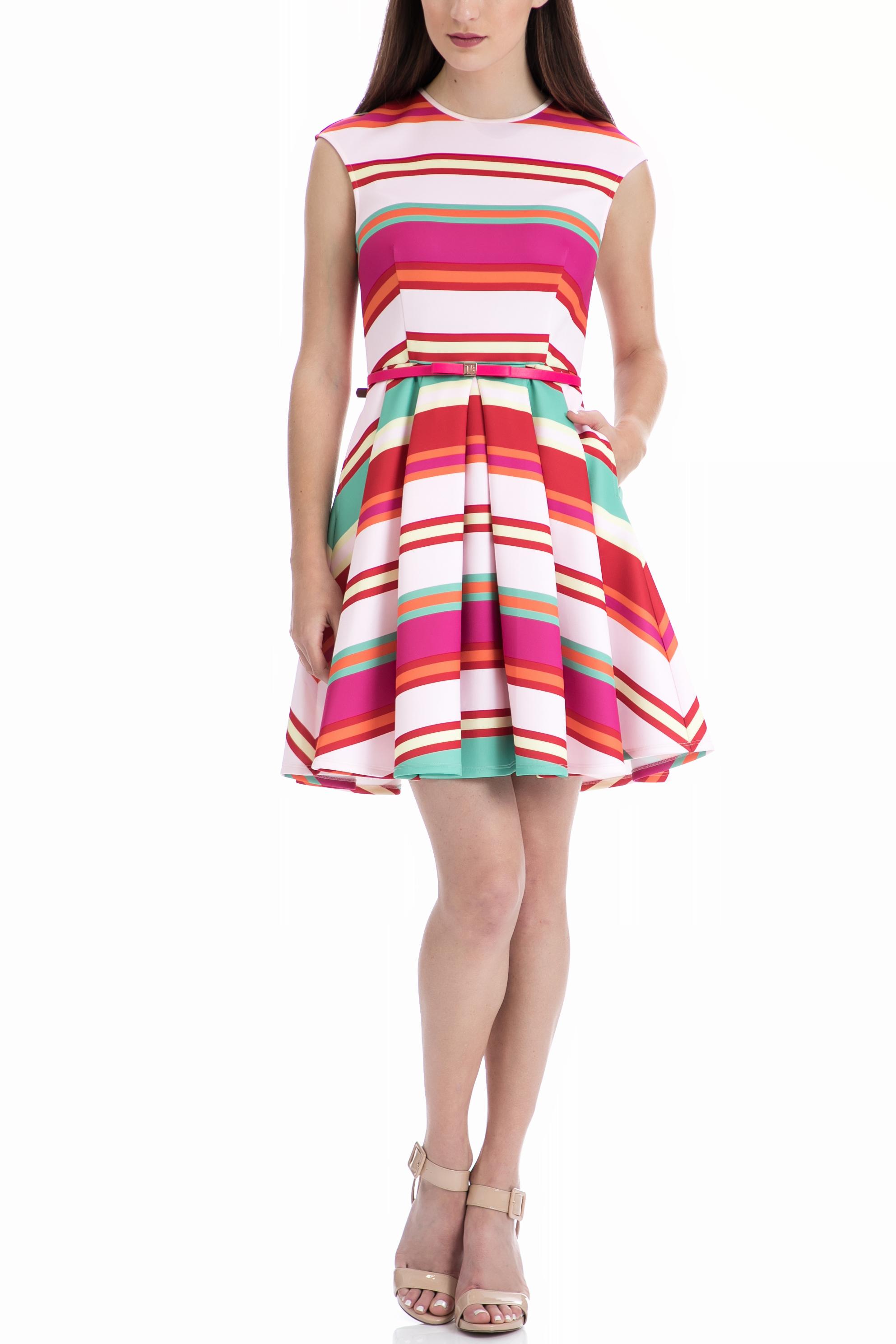 TED BAKER - Γυναικείο φόρεμα Ted Baker εμπριμέ γυναικεία ρούχα φορέματα μίνι