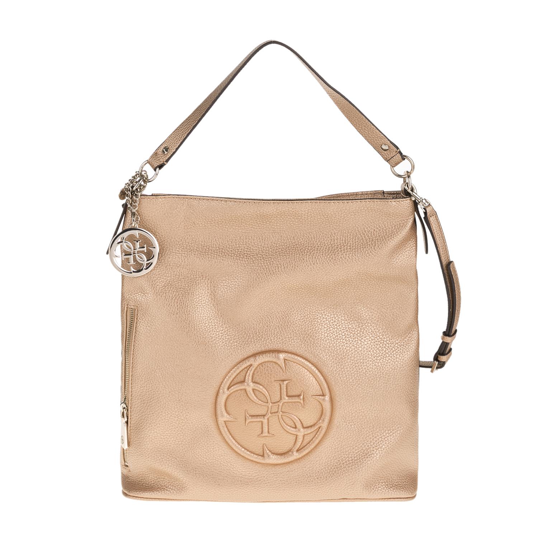 GUESS - Γυναικεία τσάντα GUESS KORRY CRUSH χρυσή 9f20d6804af