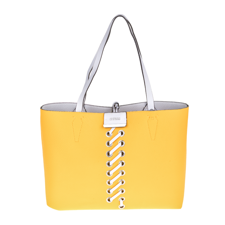ad4dc09850 GUESS - Γυναικεία τσάντα GUESS BOBBI κίτρινη