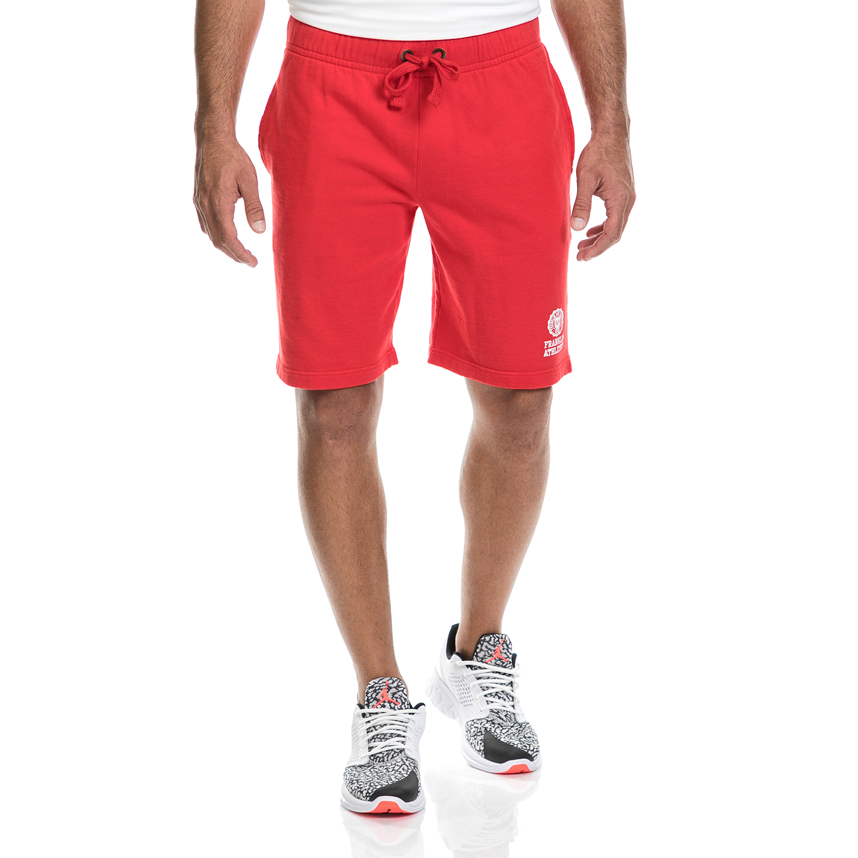 FRANKLIN & MARSHALL - Ανδρική βερμούδα FRANKLIN & MARSHALL κόκκινη ανδρικά ρούχα σορτς βερμούδες αθλητικά