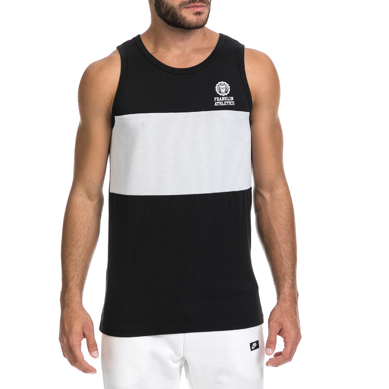 FRANKLIN & MARSHAL – Αντρική μπλούζα UNI FRANKLIN & MARSHAL λευκή-μαύρη