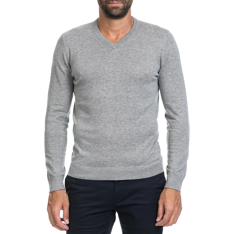 TED BAKER - Ανδρική μπλούζα ALTERNA γκρι ανδρικά ρούχα μπλούζες μακρυμάνικες