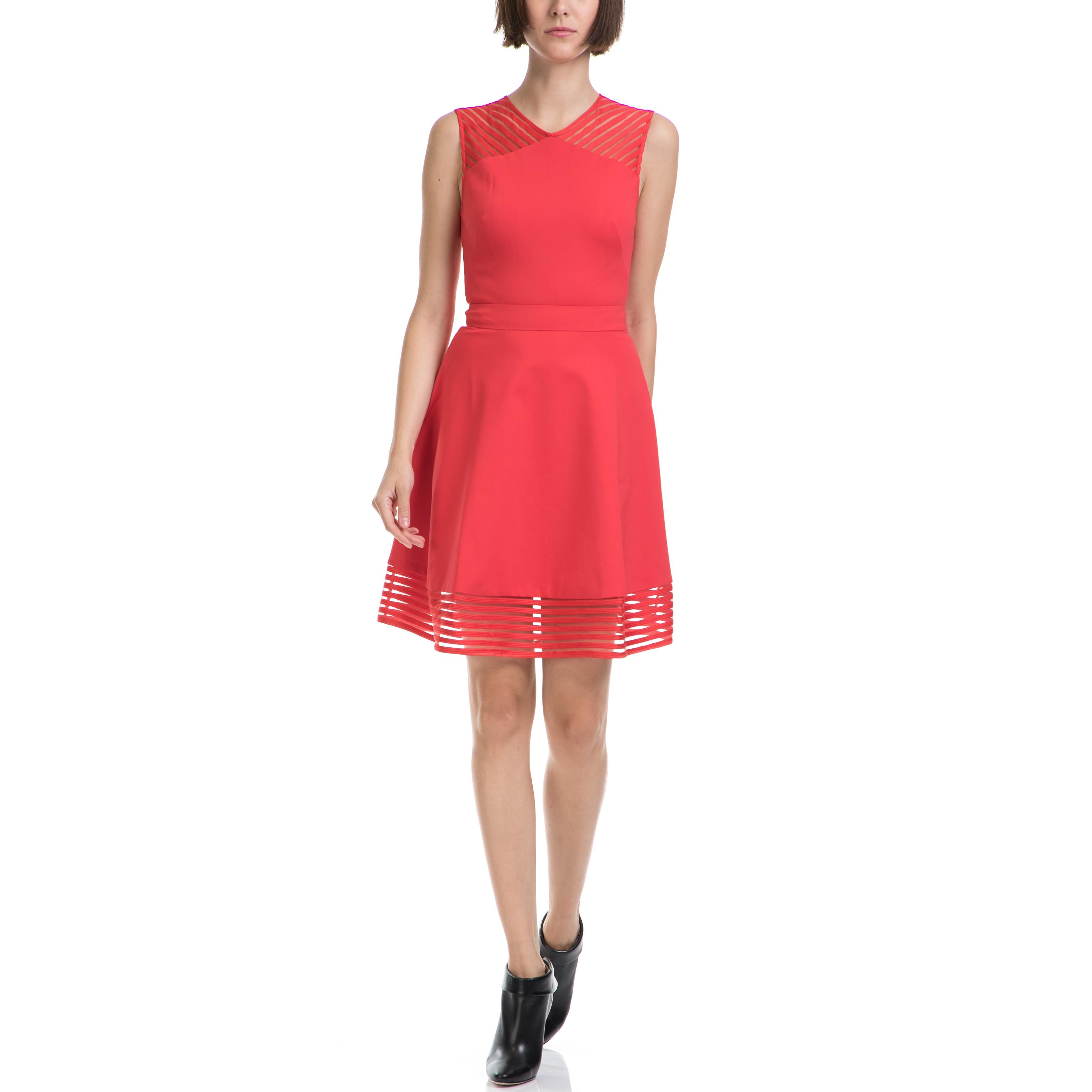 TED BAKER - Γυναικείο φόρεμα TED BAKER πορτοκαλί γυναικεία ρούχα φορέματα μίνι