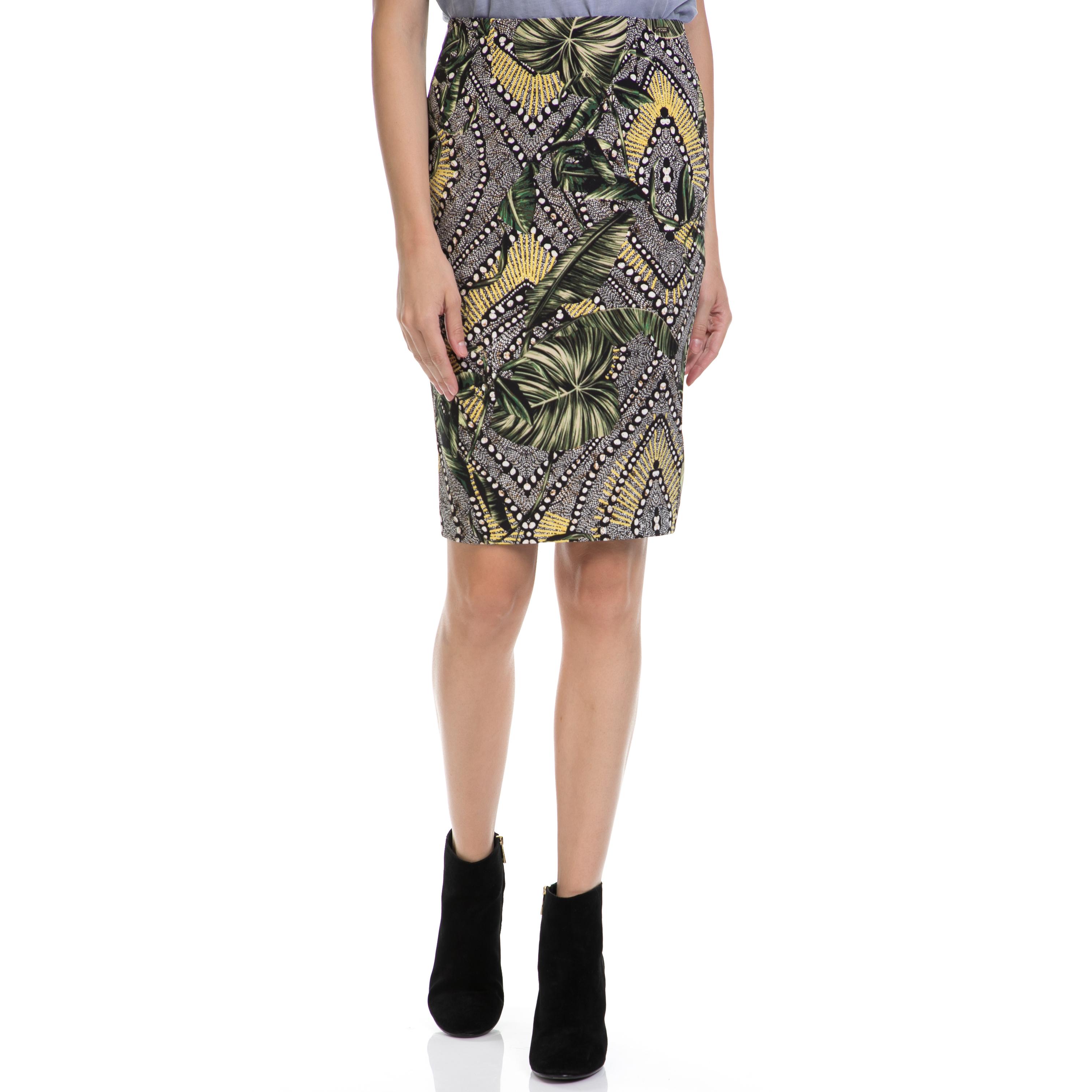 GUESS - Γυναικεία φούστα GUESS εμπριμέ γυναικεία ρούχα φούστες μέχρι το γόνατο