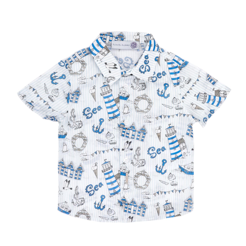 MONNALISA – Βρεφικό πουκάμισο MONNALISA μπλε-άσπρο